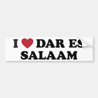 I Heart Dar es Salaam Tanzania Bumper Sticker