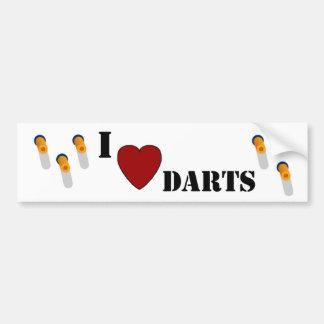 I Heart Darts Car Bumper Sticker