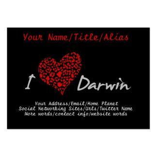 I Heart Darwin Large Business Card