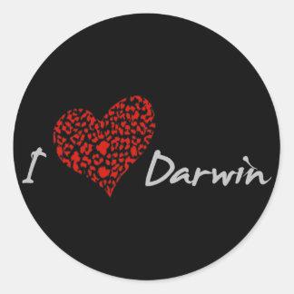 I Heart Darwin Stickers
