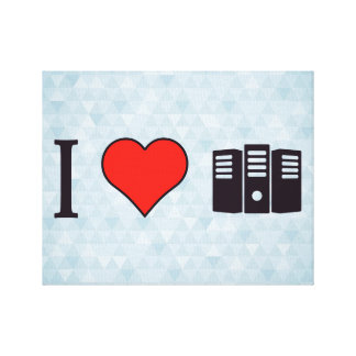 I Heart Data Storages Canvas Print
