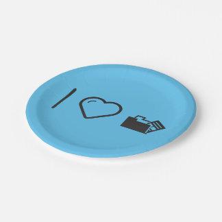 I Heart Data Uninstalls 7 Inch Paper Plate