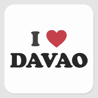 I Heart Davao City Square Sticker