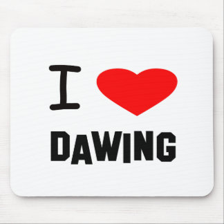 I Heart dawing Mouse Pad