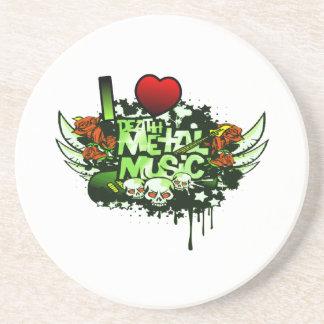 I Heart Death Metal Coasters