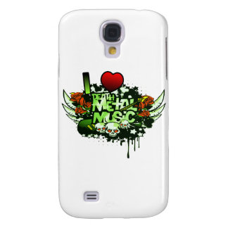 I Heart Death Metal Music Galaxy S4 Case
