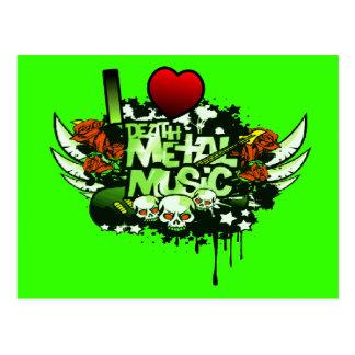 I Heart Death Metal Music Postcard