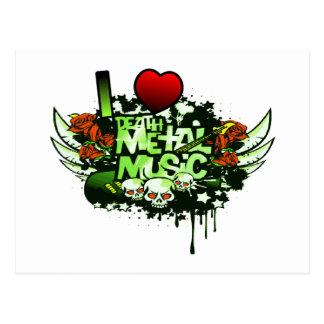 I Heart Death Metal Postcard