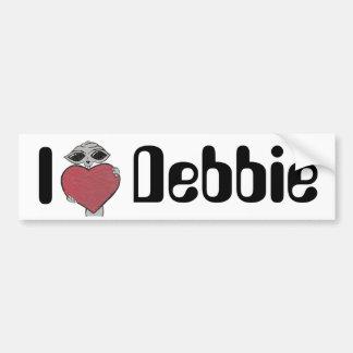 I Heart Debbie Alien Bumper Sticker
