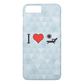 I Heart Deck Chairs iPhone 8 Plus/7 Plus Case