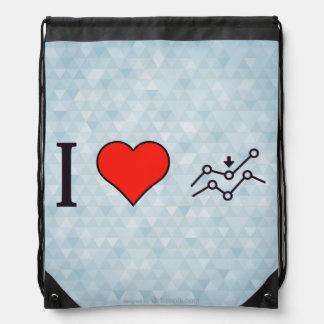I Heart Decline In Sales Drawstring Bag