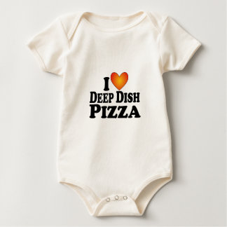 I (heart) Deep Dish Pizza - Lite Multi-Products Baby Bodysuit