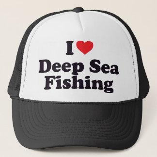 I Heart Deep Sea Fishing Trucker Hat