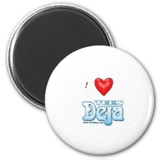 i heart deja 2 inch round magnet