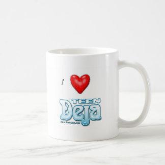 i heart deja coffee mug
