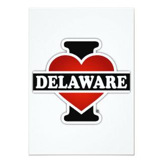 I Heart Delaware 5x7 Paper Invitation Card