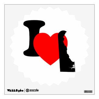 I Heart Delaware Wall Sticker