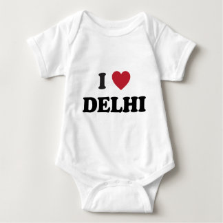 I Heart Delhi India Baby Bodysuit