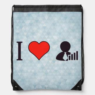 I Heart Delivering An Informative Sermon Drawstring Bag