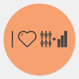 I Heart Demographics Classic Round Sticker