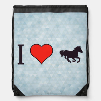 I Heart Derby Racing Drawstring Backpack