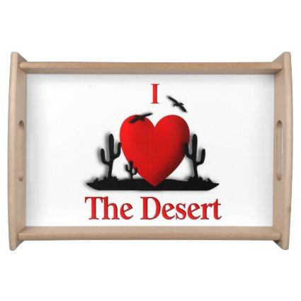 I Heart Desert Service Tray