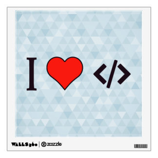 I Heart Designing My Own Software Wall Sticker