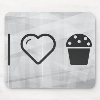 I Heart Dessert Cupcakes Mouse Pad