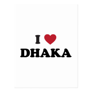 I Heart Dhaka Bangladesh Postcard
