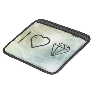 I Heart Diamond Crystals iPad Sleeves