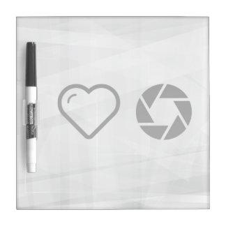 I Heart Diaphragm Circles Dry-Erase Boards
