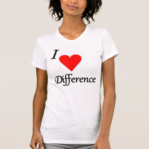 I Heart Difference T-Shirt