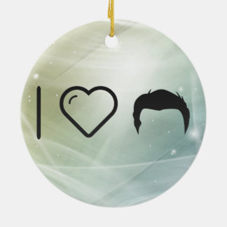 I Heart Different Hairstyles Ceramic Ornament