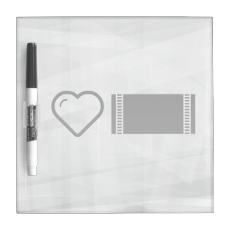 I Heart Dining Cloths Dry Erase Whiteboard