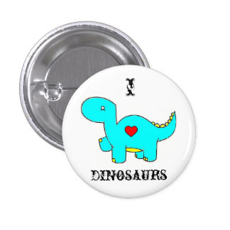 i heart dinosaurs pinback button