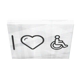 I Heart Disability Signs Canvas Print