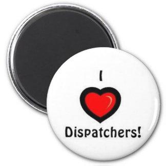 I Heart Dispatchers 2 Inch Round Magnet