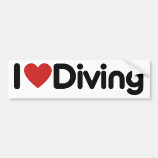 I Heart Diving Bumper Sticker