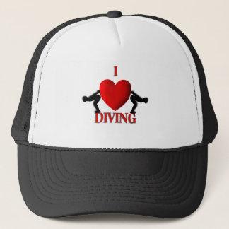 I Heart Diving Sport Hat