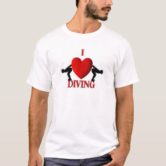 I Heart Diving Sport T Shirts