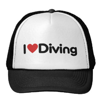 I Heart Diving Trucker Hat