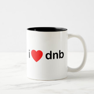 I Heart DNB Two-Tone Coffee Mug