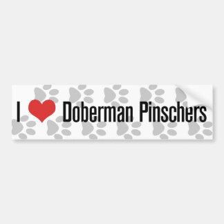 I (heart) Doberman Pinschers Car Bumper Sticker
