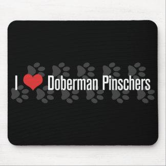 I (heart) Doberman Pinschers Mouse Pad
