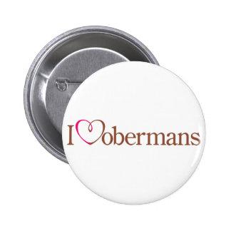 I Heart Dobermans Buttons