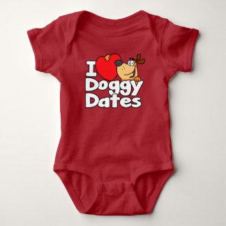 I Heart Doggy Dates Baby Bodysuit