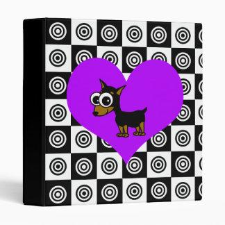 I Heart Dogs - Black , Purple, White Binder