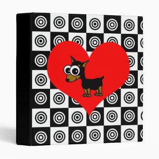I Heart Dogs - Black ,Red, White Binder