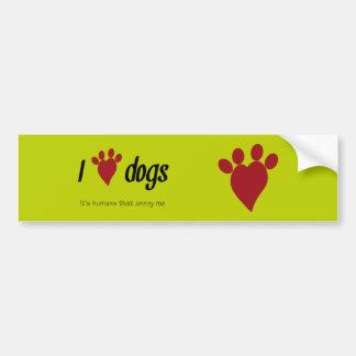 I Heart Dogs Bumper Stickers