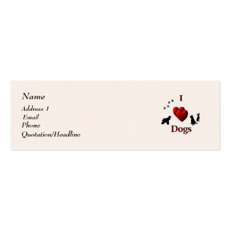 I Heart Dogs Business Card